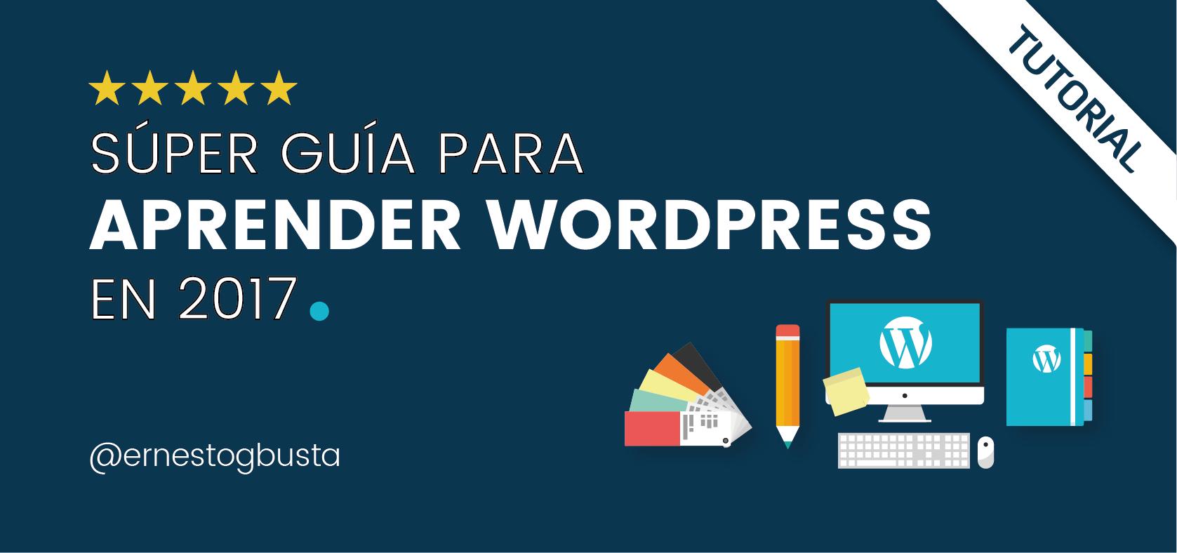 Aprender WordPress Hacer Página Web