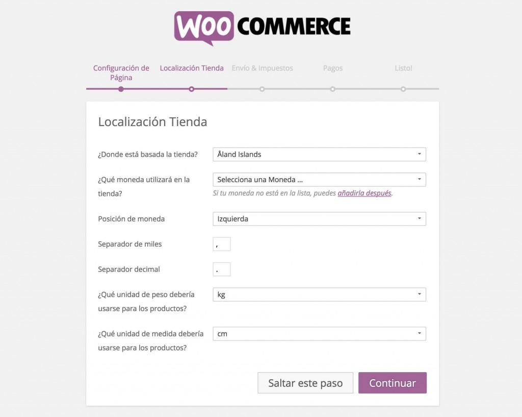 Configurar Tienda Online