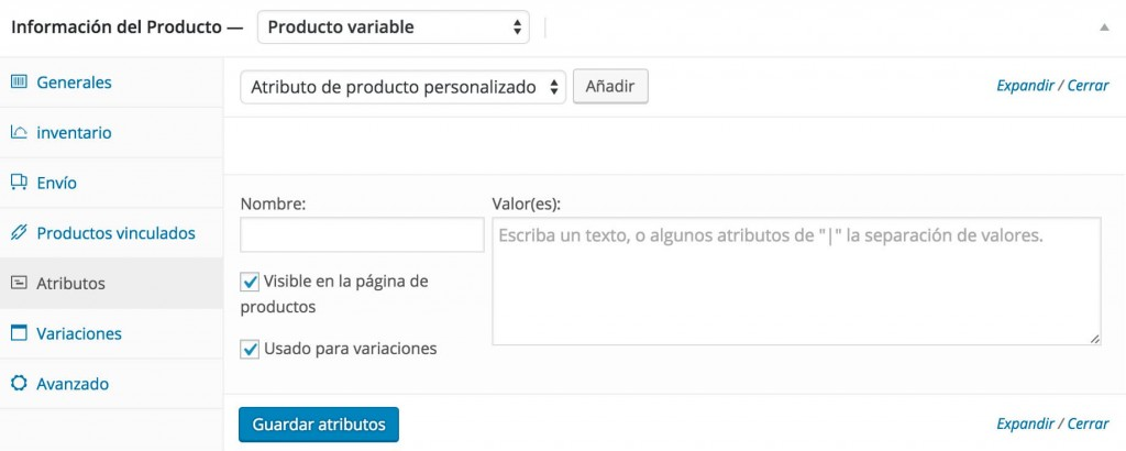 Crear Producto WooCommerce