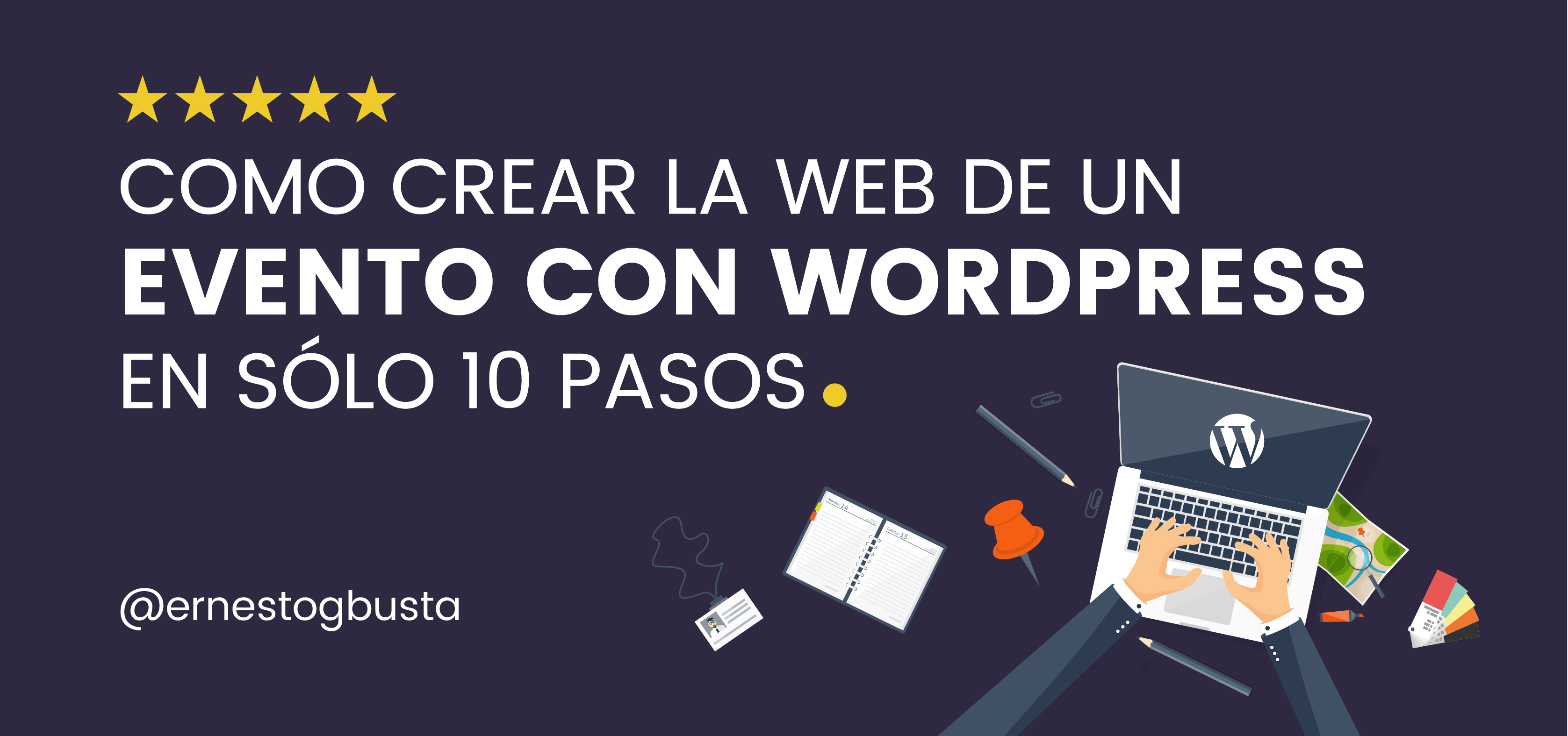 crear web evento wordpress