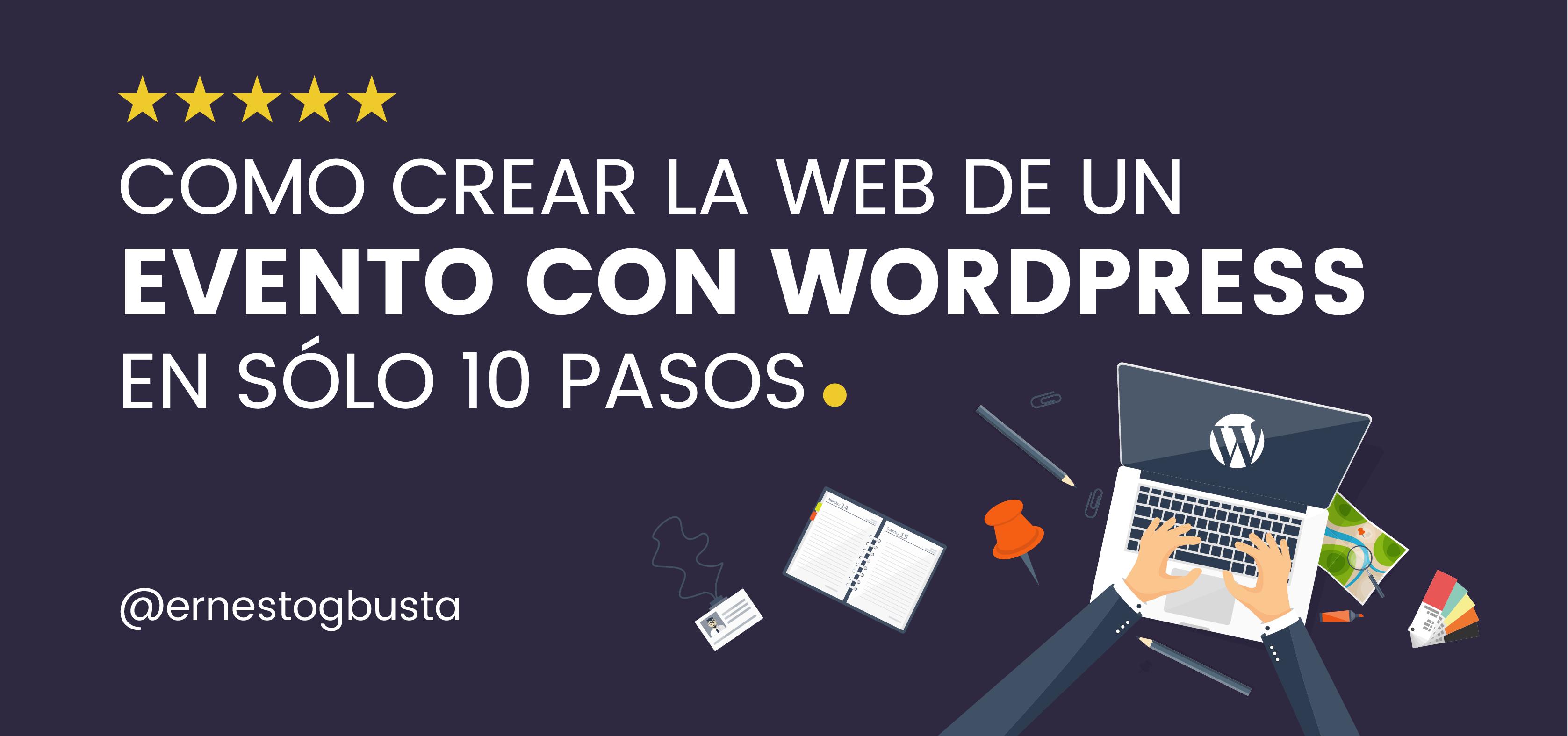 crear web evento wordpress